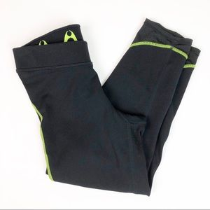 Hylete Black & Neon Green Active Capris
